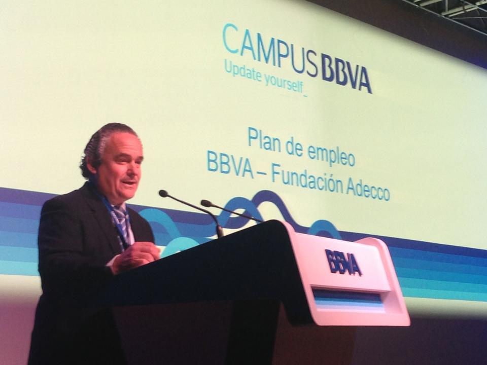 Francisco Mesonero explica el Plan de empleo BBVA-Fundación Adecco