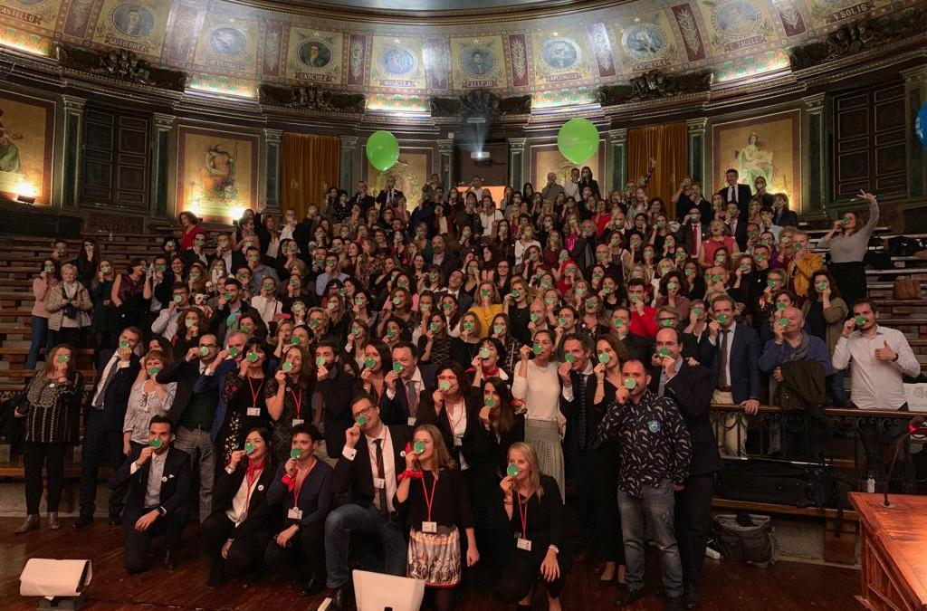 Los Premios Hospital Optimista inundan Madrid de narices verdes