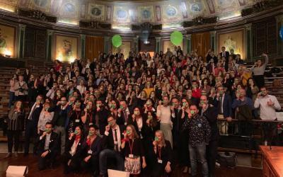 Los Premios Hospital Optimista inundan Madrid de narices verdes
