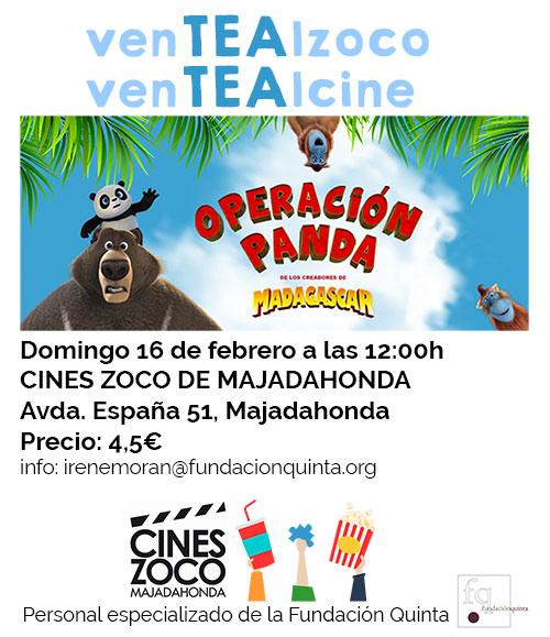 cine adaptado a TEA operacion panda