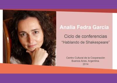 Analía Fedra García – «Hablando de Shakespeare»