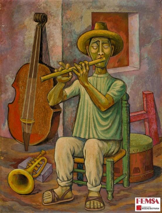 Gabriel Fernández Ledesma, El flautista, 1952. Colección FEMSA