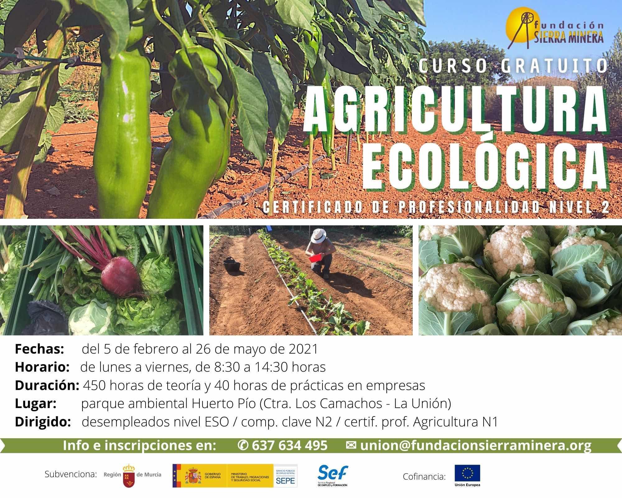 Nueva oportunidad formativa: curso de Agricultura Ecológica