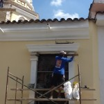 Mantenimiento de la iglesia de San Laureano en Bucaramanga . Colombia