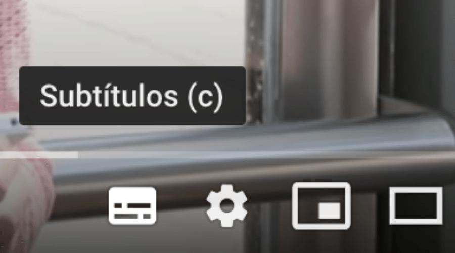 Foto de las herramientas de Youtube, entre ellas la opción de Subtítulos