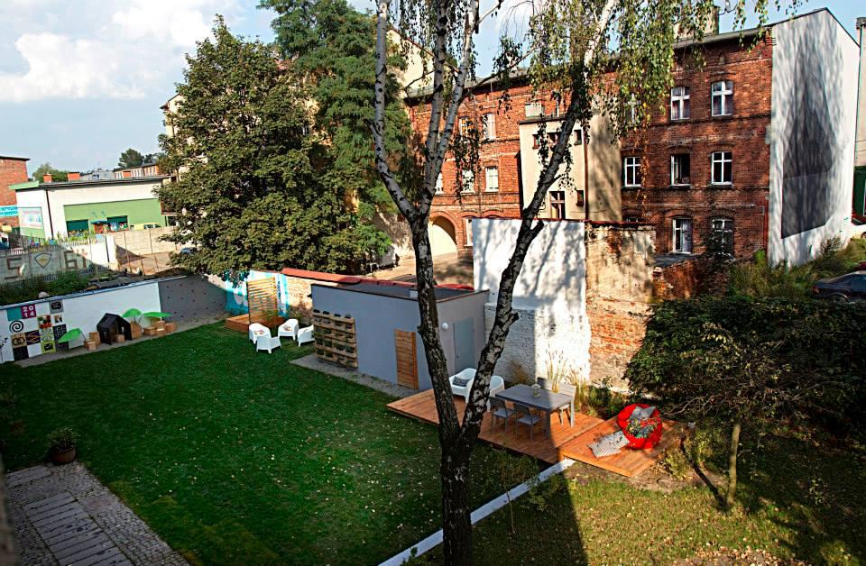 ogród społeczny plac na glanc Kredytowa - widok z góry po