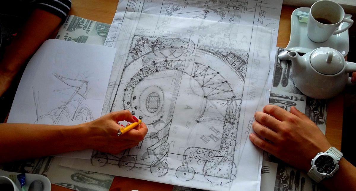 Tak to się zaczęło - ogród społeczny w Sopocie - pierwszy szkic