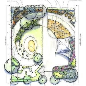 Plan ogrodu społecznego w Sopocie