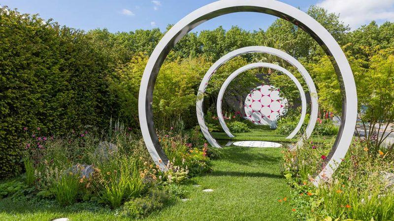 chelsea 2017 kręgi z betonu dla ozdoby w ogrodzie