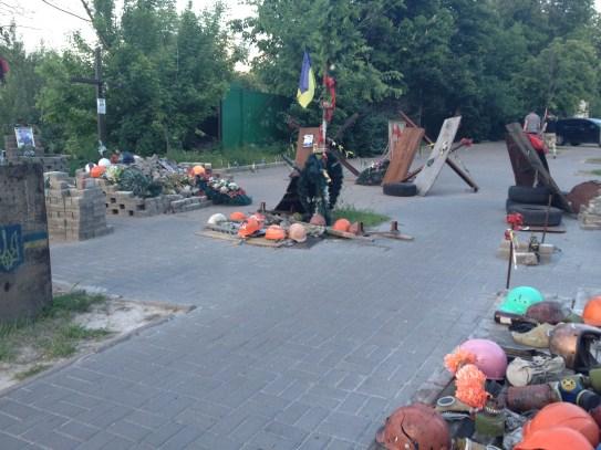 Ulica Instytucka - tu ginęli chłopcy od kul snajperów Berkutu