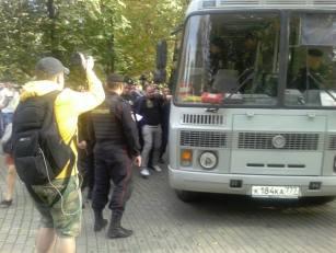 Zatrzymanie Alexeya Domnikova- Moskwa Marsz Pokoju