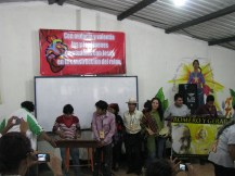The group from Guatemala introduces themselves at the beginning of the conference.