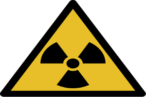 harta a radiatiilor, semn radioactiv