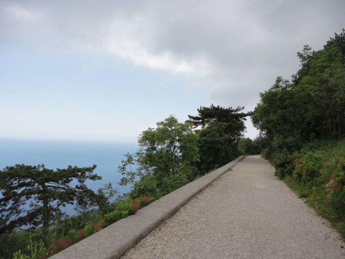 Go where the trail leads. Strada Vicentina (Strada Napoleonica), Trieste, Italy