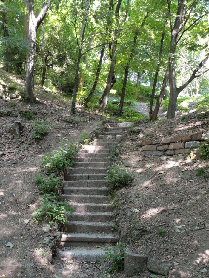 Take the stairs! Monte Stella, Milan, Italy