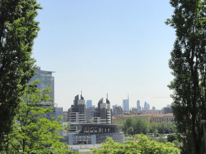 View of Milan from Monte Stella. Milan, Italy