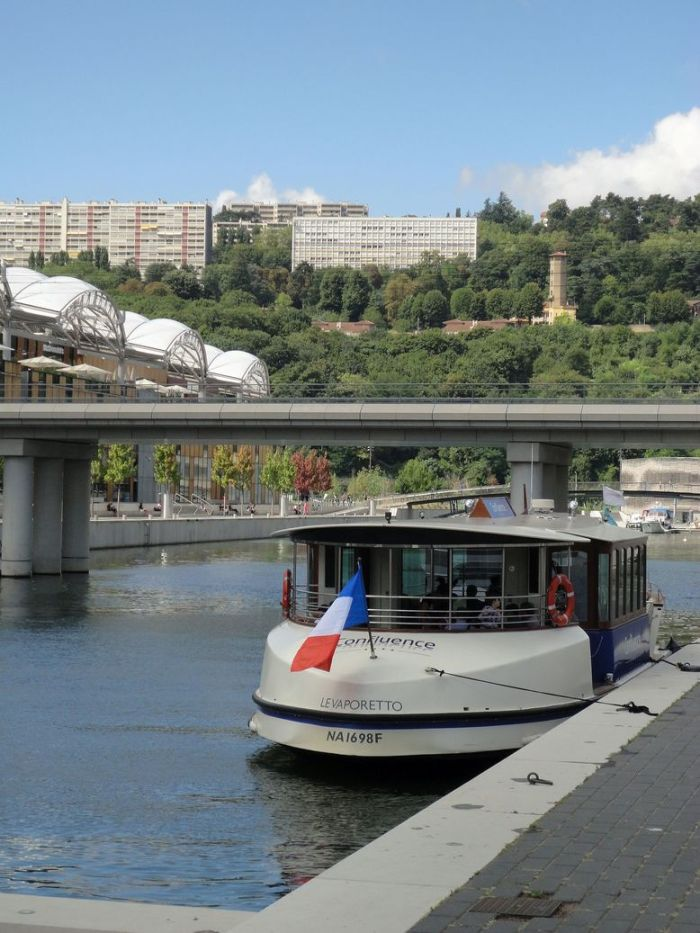The Confluence Ferry. Lyon, France