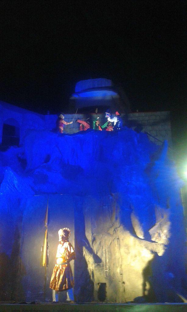 The Story of Kondana's Capture (Shivaji and Tanaji Malusare). Ganesh Chaturthi, Pune, India