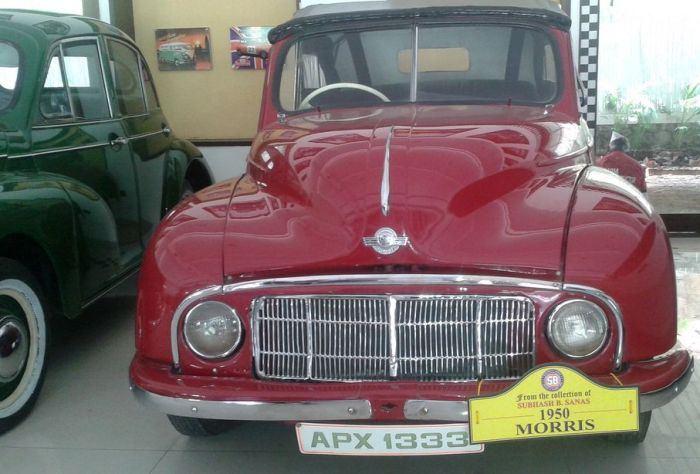 A shiny Morris! Vintage and Classic Cars Museum, Pune, India