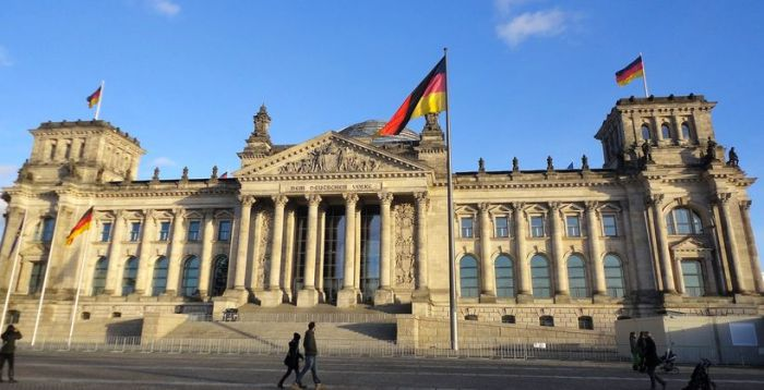 The magnificent Reichstag/Bundestag building. Berlin, Germany