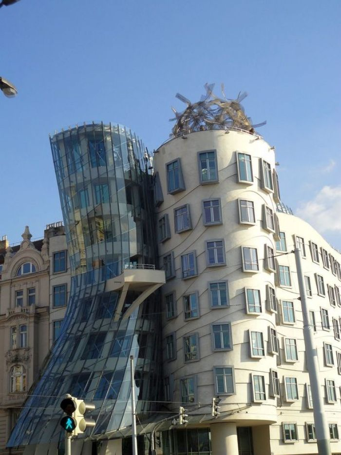 Shall we dance? Dancing House, Prague, Czech Republic.