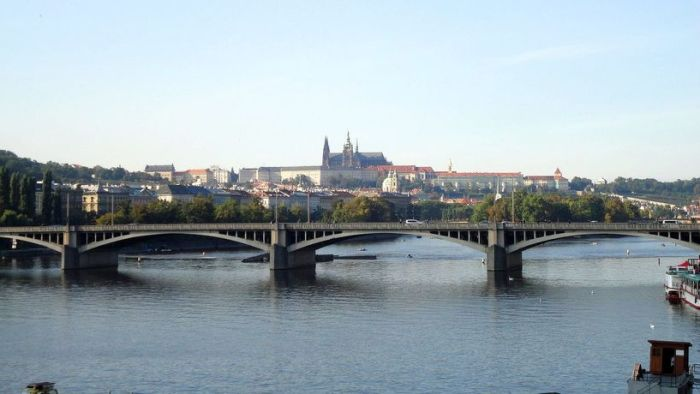 Bridge across the River Vltava. Prague, Czech Republic.