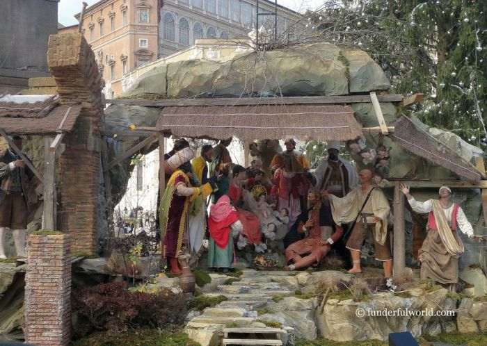 Nativity scene at Vatican City.