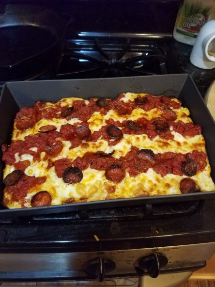 Making Detroit Pizza