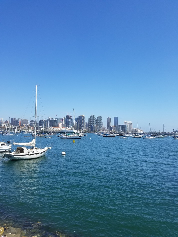 Biking San Diego Harbor