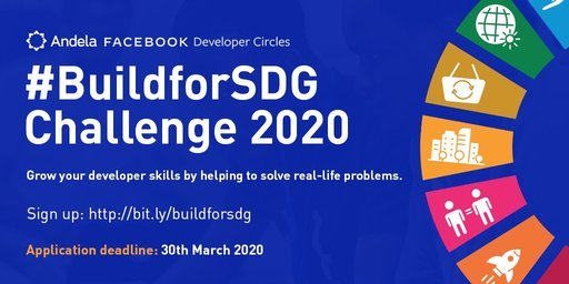 Facebook/Andela #BuildforSDG Challenge 2020 for African Developers
