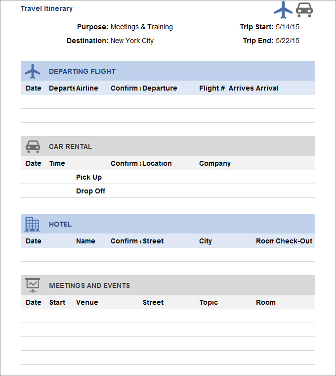 Create a blank itinerary planner. Travel Itinerary Template Free For Mac Fundpowerup