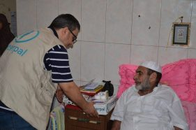 Aid for elderly refugees in Gaza