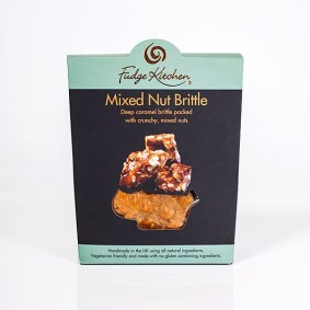 Mixed Nut Brittle, part of Mubarak London's luxury hampers