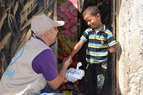 Interpal gives Qurbani meat to Palestinian boy