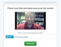 Google+ Hangout check your hair