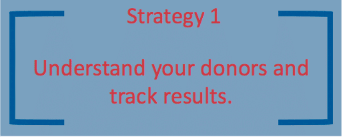 The first donor stewardship strategy is to understand your donors and track results.