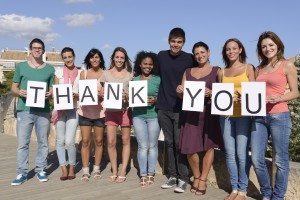 Group of people saying Thank