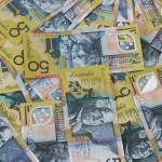 Australian fifty dollar notes everywhere.
