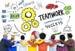 Teamwork Team Together Collaboration Diversity People Friends Concept