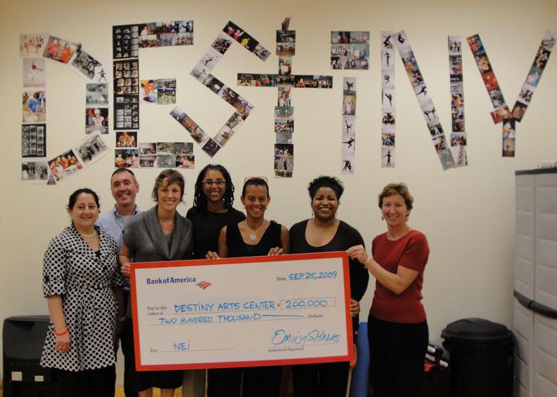 Destiny Arts Center Received $200,000 from BofA