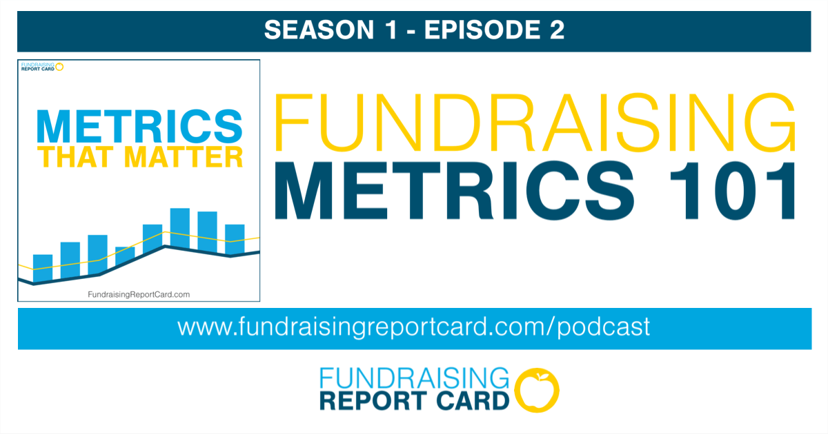 Fundraising metrics 101 - podcast promo art