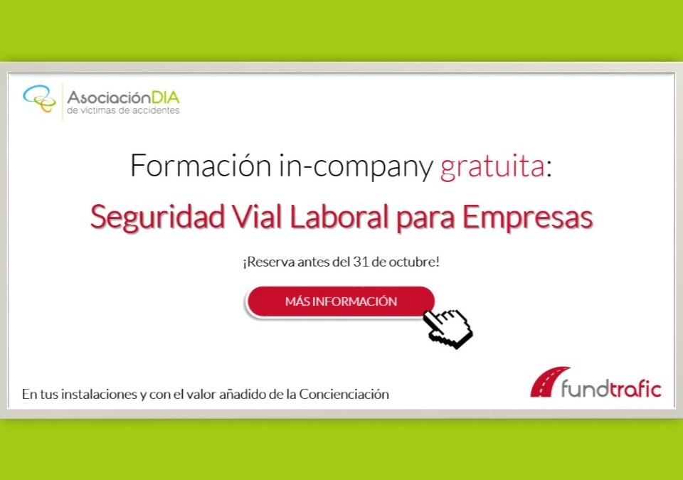 Reserva tu formación gratuita en Seguridad Vial Laboral para empresas