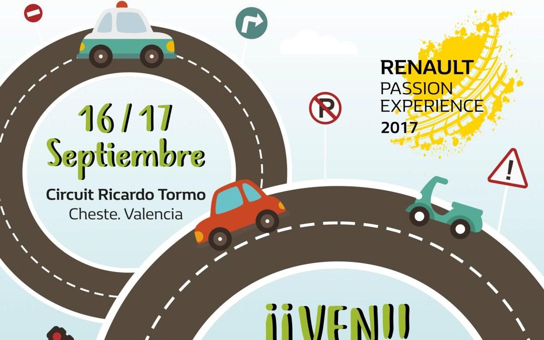 ¡Te invitamos a un gran evento! Renault Passion Experience aterriza en Cheste