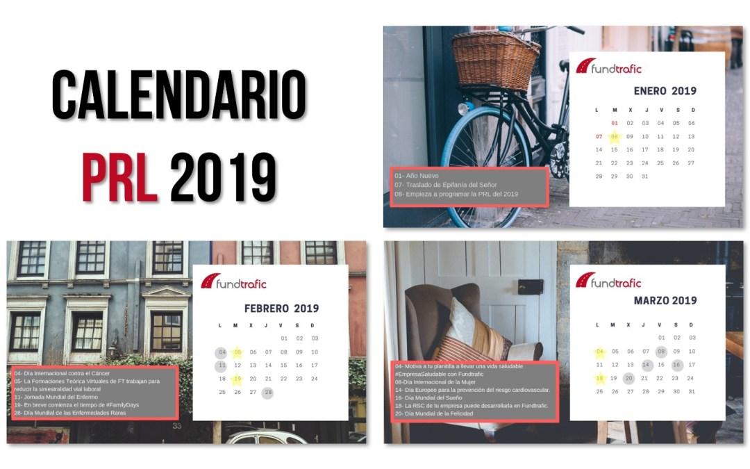 Programa tus acciones con nuestro calendario de PRL 2019