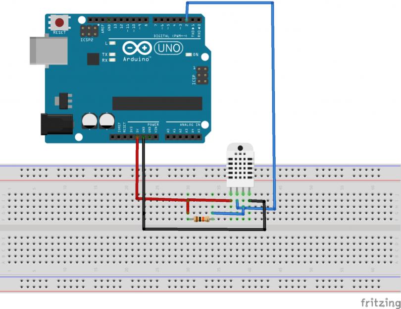 Nr 16 - DHT11 und DHT22 | Funduino - Kits und Anleitungen für Arduino