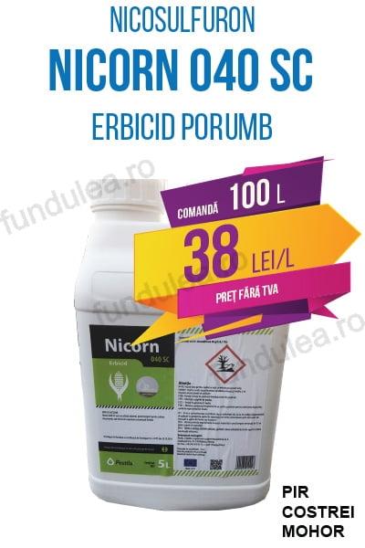 erbicid porumb NICORN 040 SC, 100 L, nicosulfuron, Compania Seminte Fundulea