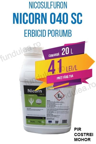 erbicid porumb NICORN 040 SC, 20 L, nicosulfuron, Compania Seminte Fundulea