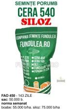 Samanta porumb CERA 540 (grupa FAO 540) este un hibrid de porumb trilinial