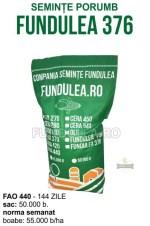 Samanta porumb FUNDULEA 376 (grupa FAO 440) este un hibrid simplu de porumb semitardiv