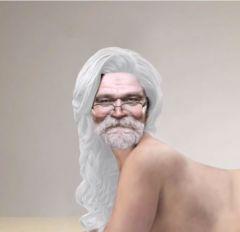 Weihnachtsmann als Bikini-Model_fundwerke_122014